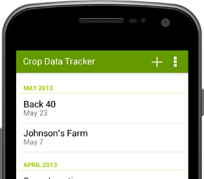 Crop Data Tracker Mobile